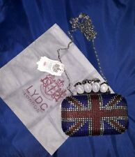 Brand New LYDC Union jack sparkling clutch purse/handbag/shoulder/wallet bag