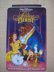 """Disney Werbe-Aufkleber """"Die Schöne & das Biest"""" von 1993 Sticker Beauty Beast"""