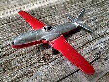 "Vintage Tootsie USAF Toy Airplane Shooting Star Red & Silver #485004 3.5"""