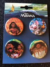 Moana New On Card Button Pin Set # 1