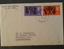 GB QEII 1963 Comonwealth Arts Plain Typed Cover Huddersfield Handstamp