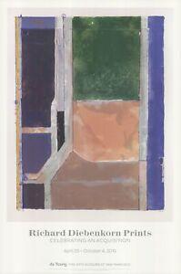 RICHARD DIEBENKORN Twelve 36 x 24 Offset Lithograph 2015 Abstract Pastel, Pink,