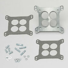 Carb Carburetor Adapter 3 or 4bbl Holley Square bore Rochester to small base