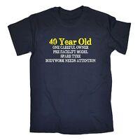 40 Year Old One Careful Owner T-SHIRT Tee birthday gift Joke Old birthday gift