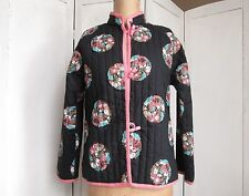 Donna Nero e Rosa Orientali Cinesi Giapponesi Mandarino Stile Giacca