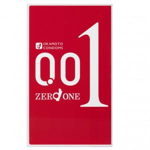 CLEARANCE OKAMOTO 001 Original Package 0.01mm Condoms Medium Size (3 pieces)