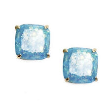 "NWT KATE SPADE SQUARE GLITTER STUD EARRINGS $32 1/4"" PALE BLUE"