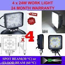 4x 24W 12V LED WORK LIGHT TRUCK TRAILER BOAT OFFROAD FLOOD BEAM LAMP 4WD SUV CAR