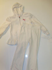 NWT Girls Puma 2pc Hoodie Jacket Pants Outfit Set Logo Sz 6 Fleece NEW