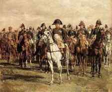 Meissonier Jean Louis Ernest Napoleón y su personal A3 Caja De Lona