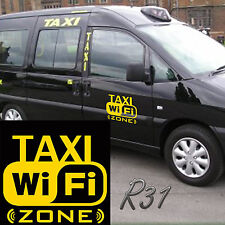 Free Wi Fi Taxi Zone Car Decal Vinyl Sticker For Panel Bumer Window