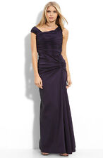 NWOT Adrianna Papell Ruched Taffeta Gown Mother of Bride or Groom SZ 8 Azalea