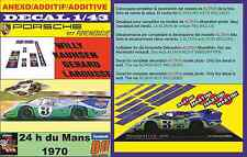 ANEXO DECAL 1/43 PORSCHE 917 PSYCHEDELIC MARTINI WILLY KAUHSEN LEMANS 1970 (04)