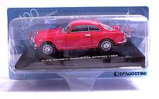 ALFA ROMEO GIULIETTA SPRINT 1959 Rosso - Scala 1:43 - Die Cast Model - DeA