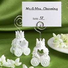 Segnaposto carrozza bianca principessa strass Matrimonio compleanno battesimo