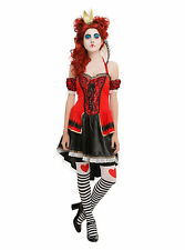 Hot Topic Alice Themed Red Queen Dress Size SM QUEEN OF HEARTS