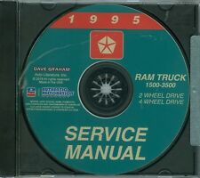 1996-97  DODGE TRUCK SHOP/BODY  MANUAL ON CD-COVERS 2 & 4  WHEEL DRIVE 1500-3500