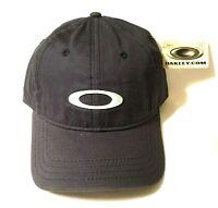 New Oakley Icon Blue Hat w/ Plaid Under Bill & White Stitching Adjustable Strap