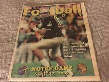 1997 MICHIGAN DAILY Football Saturday Program University of Michigan-Notre Dame