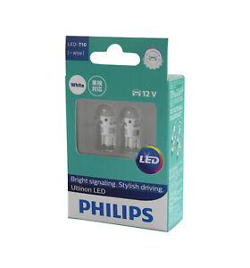 Genuine PHILIPS Ultinon White LED 6000K Wedge Bulb 12V T10 W5W - Twin Pack