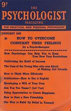 Original Vintage The Psychologist Magazine January 1955 Overcome Tired Feelings