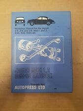Jaguar Mk1 & MK2  2.4 3.4 3.8 240 & 340 Autobooks Manual 1955-1969  Free UK Post