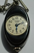 Antique Carl Bucherer Lucerne Swiss Marcasite and Silver Watch Necklace