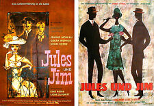 Francois Truffaut`s JULES ET JIM  rare 1sh from 1963 (2-sided print)