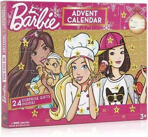 BARBIE CHRISTMAS ADVENT CALENDAR WITH 24 SURPRISES - BRAND NEW - FREE UK POST!!!