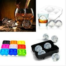 Whiskey Ice Ball Cube 4Ball Maker Mold Sphere Mould Party Round Bar Silicone