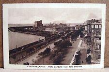 Civitavecchia - Viale Garibaldi visto dalla Stazione [piccola, b/n, viaggiata]