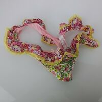 Liberty of London Ruffly Ruffle Thong Panties Floral M Medium 7