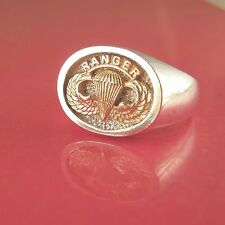 Army Ranger Jump Wings Ring - 14K & Sterling - (#36-17)