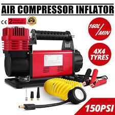 12v Air Compressor 4x4 Tyre Pump 160L/MIN Car Van Truck 150PSI
