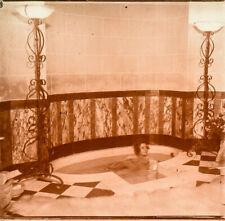 Stereo view on glass, erotic, nude female, atrium series j. richard 4