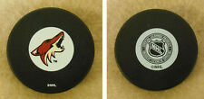 1 HOCKEY PUCK -NHL OFFICIAL IN GLAS CO - PHOENIX COYOTES #1  - FREE SHIP