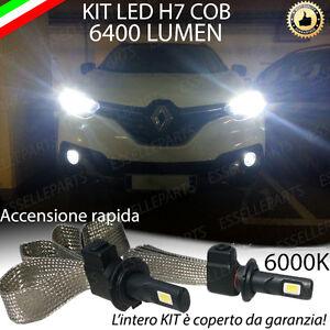 ANABBAGLIANTE LED RENAULT KADJAR LAMPADE LED H7 6000K CANBUS 6400 LUMEN 60W
