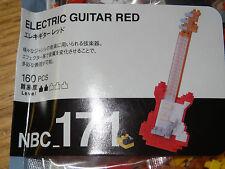 Electric Guitar (Red) Nanoblock Micro Sized Building Blocks NBC171 Mini Nano