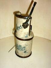 Ancienn Pipe à eau Opium Chine Blanc Bleu Signé Ceramic Chinese 19th