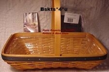 New in Box Longaberger Collector Club Spring Meadows Basket + Protector Set-Rare
