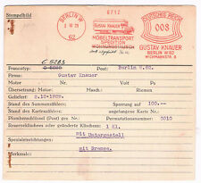 LKW Möbeltransporter alt Berlin 1929 Gustav Knauer Speditio Archivkarte Unikat