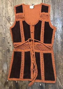 Women/'s Vest Vintage Clothing Size Medium Park Avenue Floral Summer Vest