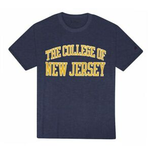 The College of New Jersey Champion  TCNJ Arch Logo Men's Navy Blue T-Shirt