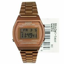 NEW CASIO RETRO UNISEX  DIGITAL ROSE GOLD ALARM CLASSIC WATCH B640WC-5A RRP £59