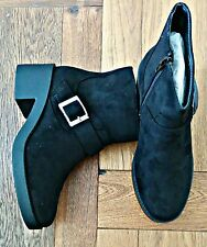 Womens New Look Heeled Black Boots size 4