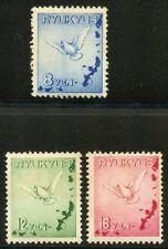 RYUKYUS ISLANDS SCOTT #C1/3  MINT NEVER HINGED ORIGINAL GUM