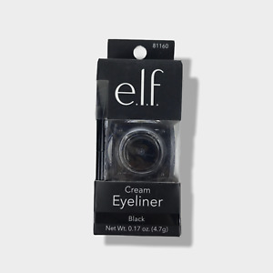 e.l.f. Cream Eyeliner Smooth Lines Smudge Water Proof with Brush Black 81160