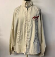 VTG Kentucky Horse Park Windbreaker Jacket Zip Front Men XL Sportsmaster 70s 80s
