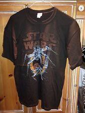 Star Wars Dual X-Wing Fighter T Shirt Dark Brown Size L NWT