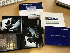 Subaru Impreza Owners Manuals Stamped Service Book Handbook Wallet 2002 Edition